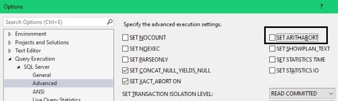 Advanced Query Execution Options